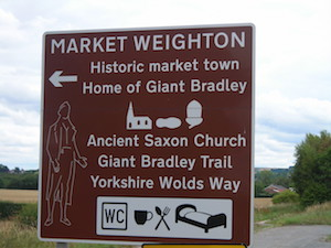 Sign for Market Weighton
