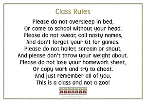 Class Rules Poem